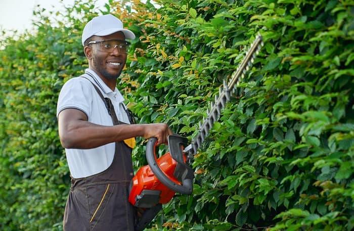 male gardener smiling